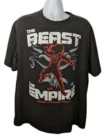 WWE T-shirt Brock Lesnar Roman Reigns Beast Vs. The Empire Black T Shirt XL