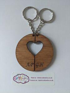 His And Hers Split Valentine's Heart Keyring, lovers gift, token valentine gift