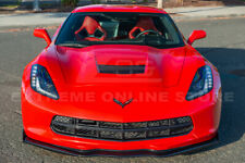 Z06 Stage 2 CARBON FLASH Front Lip Splitter Side Winglet For 14-19 Corvette C7