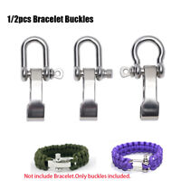 U Shaped Stainless Steel Adjustable Shackle Buckle for Bracelet Paracord Nice