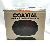 Sparkomatic Coaxial 6x9 Deck Mount Stereo Speakers Model SK 692. Open item NOS