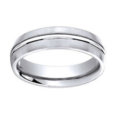 Sterling Silver 6mm Comfort Fit Men's Wedding Band Ring Sz 5