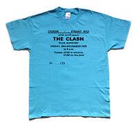 "THE CLASH ""1978 London Lyceum"" screen printed tribute T SHIRT"