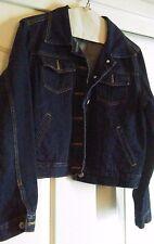 Express Jeans Women's 100% Cotton Denim New Jacket Blue Medium