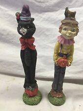 Two Cute Halloween Figurines shelf#F3