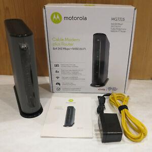Motorola MG7315 8x4 DOCSIS 3.0 Cable Modem N450 Wi-Fi Gigabit Port Router