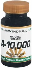 Windmill Vitamin A 10,000 IU Softgels 100 Soft Gels