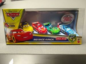 Disney Pixar Cars CARNIVAL CUP Rio Race 4 Pack Toys Target Exclusive NEW IN BOX