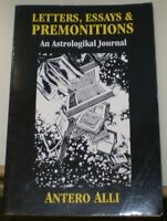 SIGNED, ANTERO ALLI, FIRST EDITION, LETTERS, ESSAYS & PREMONITIONS, OCCULT