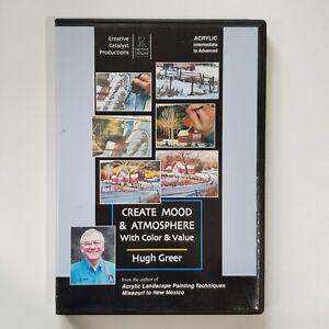 Hugh Greer - Create Mood & Atmosphere w/ Color & Value DVD Acrylic Art Education