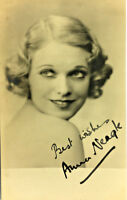 ANNA NEAGLE ACTRESS SIGNED REAL PHOTO POSTCARD RPPC UNPOSTED