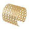Fashion Women Gold Hollow Rings Open Wide Bangle Cuff Punk Jewellery Bracelet
