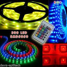STRISCIA A LED SMD 5050 300LED 5 METRI STRIP RGB BOBINA LUCE MULTICOLOR IP66