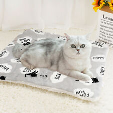 Fleece Dog Beds for Crates Pet Cushion Mat Small Large Warm Cat Sofa Washable
