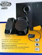 Creative NEW SBS A120 2.1 Multimedia Speaker System Desktop PC Audio NIB ~ryokan