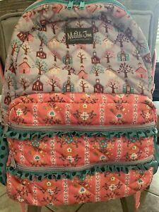 Matilda Jane Backpack GUC Pink Schoolhouse Trees Fall