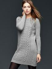 NWT Gap Cable-knit sweater dress, Light Grey Heather SIZE S