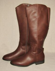 Womens Brisa Riding Boots Brown Size 6 7 7.5 Faux Leather Universal Thread