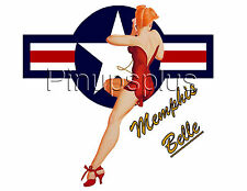 Pinup Girl Decal Waterslide Stars & Bars Memphis Belle B17 WWII Nose Art S927