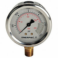 "Enerpac 2-1/2"" General Purpose Pressure Gauge, 0 to 3000 psi"