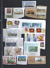Germany BRD 24 stamps-Circular Cancels-€ values-Rundstempel-Flowers-Cartoons