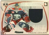 2004-05 ITG Heroes & Prospects Net Prospects Jersey Pascal Leclaire Vault 1/1