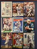 1990-1994 JEFF GEORGE Colts Mixed Lot w Rookie 12 MUST SEE LOOK