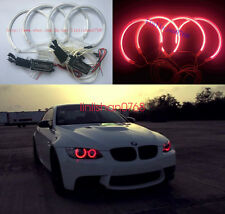 4pcs for BMW E39 E46 3 5 Series CCFL RED Headlight Angel Eyes Halo Rings Kit