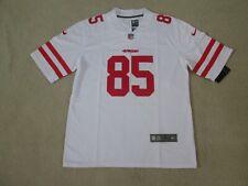SF 49ERS #85 KITTLE Stitch White Jersey Men L New SWEET