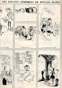 RONALD SEARLE 'LES ENFANTS TERRIBLES' FRENCH CARTOONS StTRINIANS PARIS MATCH '53