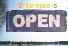 Wandschild Eisen Open Reklame Werbung H.13x36cm Wandschild Eisen Blech Haus+Hof