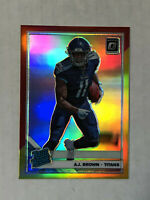 A.J. BROWN 2019 Donruss Optic RED & YELLOW SP RC REFRACTOR #164! HUGE SALE!