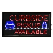 Alpine Industries 19x10 Rectangular Led Business Store Curbside Pickup Sign
