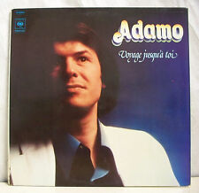"""33 tours ADAMO Disque Vinyle LP 12"""" VOYAGE JUSQUA TOI - CBS 81585 Frais Reduit"""