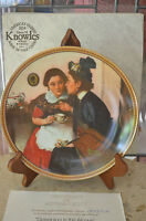 Knowles Gossiping in the Alcove - Rockwell Society of America Collectible Plate