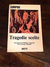 EURIPIDE TRAGEDIE SCELTE BIETTI 1971 (1973)