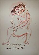 Walter Spitzer encre et aquarelle sur papier 1997 Poland France