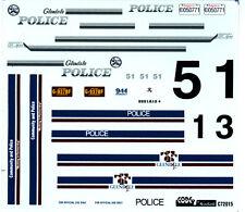 Code 7 1/24-25 72015 Glendale CA & Glendale AZ Police Decals For Model Cars