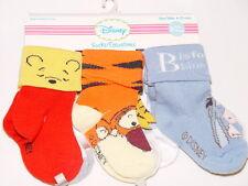 NWT DISNEY TIGGER WINNIE 6 pair socks infant BOY sock size 0-6M multi color