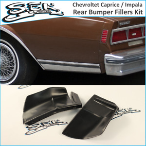 Chevrolet Caprice / Impala 80-85 Rear Bumper Quarter Panel Fillers Kit ABS