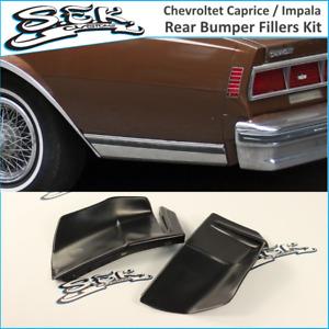 Chevrolet Caprice / Impala 80-85 Rear Bumper Quarter Panel Fillers Kit ABS