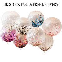 "Confetti Latex Balloons 18"" 36"" Wedding Birthday Party Baby Shower Decoration UK"