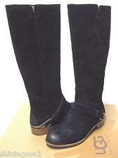UGG CHANNING WOMEN TALL BOOTS SUEDE SUEDE BLACK US 9.5 /UK 8 /EU 40.5