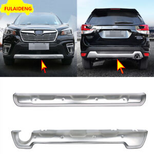For Subaru Forester 2019-2021Front & Rear Bumper Protector Skid Plate Guard trim