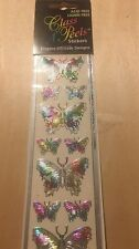 Class A Peels Scrapbook Stickers Butterfly Multi Foil Acid Free Card Making