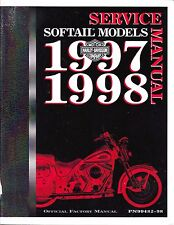 1997-1998 Harley Softail FLS FXC Repair Service Workshop Shop Manual Book 482-98