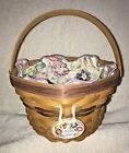 LONGABERGER Morning Glory Basket 2000 May Series Fabric Liner, Protector, Tie-On