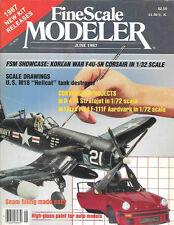 Fine Scale Modeler June 87 B-47A Stratojet F-111F Aardvark F4U-5N Corsair Water