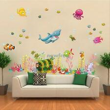 Sea Animal Ocean Fish Wall Stickers Bath Room Kids Wall Decals Mural Decor Vinyl