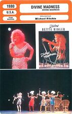 FICHE CINEMA FILM USA Bette Midler  DIVINE MADNESS Réalisateur Michael Ritchie